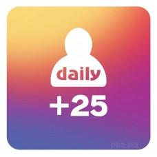 25 Followers Per Day
