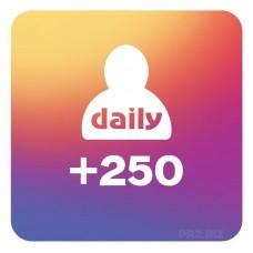 250 Followers Per Day